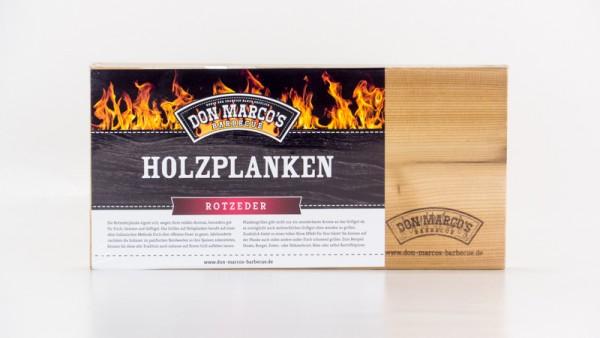 Don Marco´s Holzplanke Rot Zeder