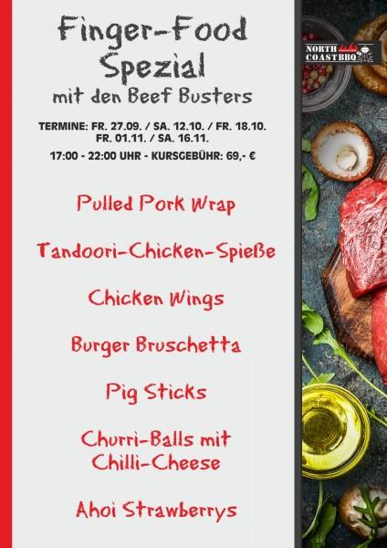 AUSVERKAUFT - Finger-Food Spezial mit den Beef Busters 01.11.2019