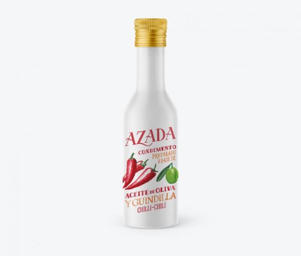 Azada-Olivenöl mit Chilis, 225ml