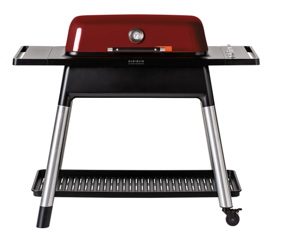 everdure FURNACE Gasgrill mit drei Brenner red