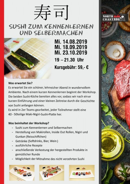 Sushi zum Kennenlernen 23.10.2019