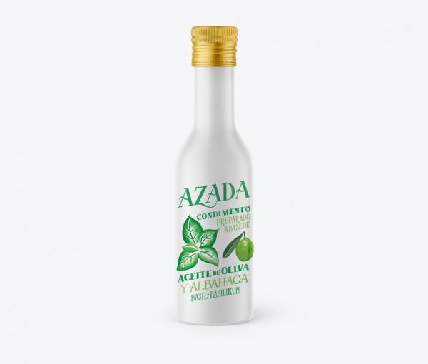 Azada-Olivenöl mit Basilikum, 100ml