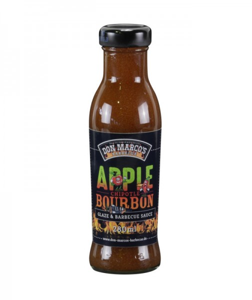 Don Marco´s Apple Chipotle Bourbon Glaze & Barbecue Sauce, 280ml