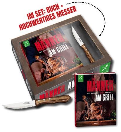 Männer am Grill inkl. Jumbo Steakmesser