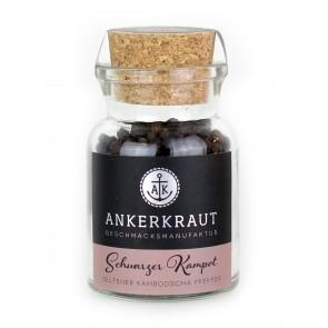 Ankerkraut Schwarzer Kampott im Korkglas, 80g