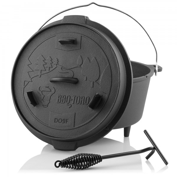 BBQ-Toro Dutch Oven DO9F mit Füße, 9,0 L Forest Serie